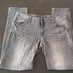 Women's Rue 21 Gray Low Rose Skinny Jeans sz 13/14